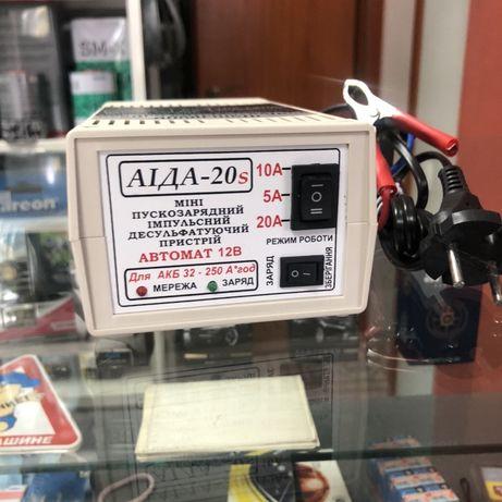 Мини Пуско-зарядное устройство для АКБ «АИДА-20s» 12В АКБ 32-250А*час