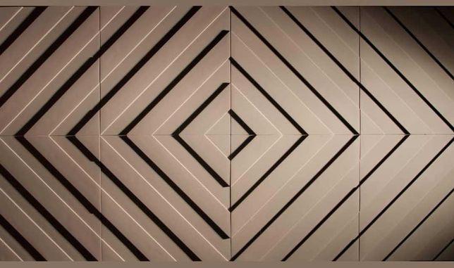 Гіпсові 3Д панелі, гіпсова ліпнина в асортименті, гіпсова плитка.