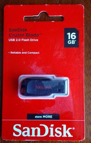 Новая флэшка -флеш USB SanDisk Cruzer Blade 16GB