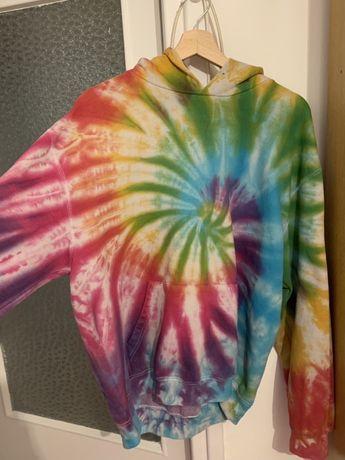 Kolorowa bluza L/XL z kapturem