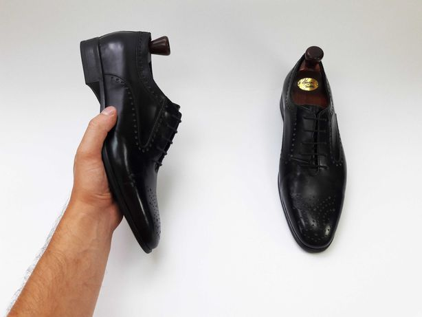 BIGOTTI Made in Italy черные туфли броги 43 44 28 см