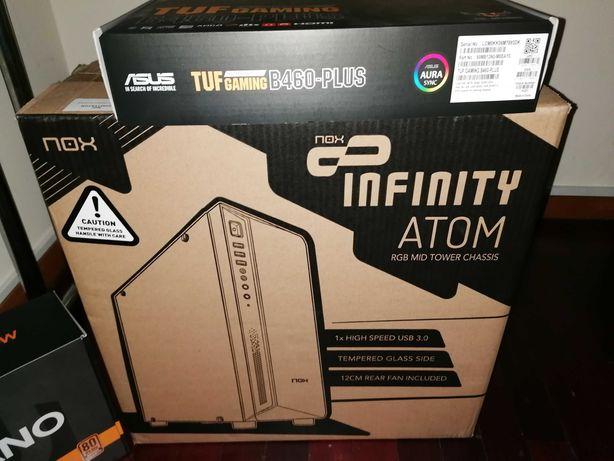 PC TUF B460-Plus; i5 10400F; 16GB; SSD 480GB; ASUS RTX 3060