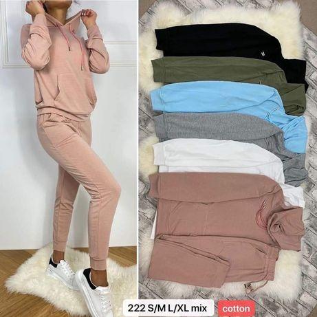 Komplety bawełniane dres bluza i spodnie