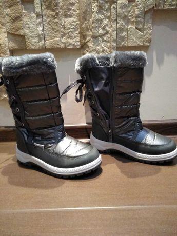 Buty zimowe śniegowce dziewczęce r.33