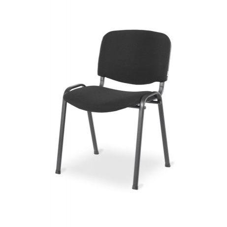 Krzesła biurowe czarne tapicerowane