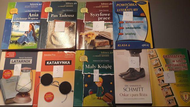Książki- Lektury, pomoce naukowe