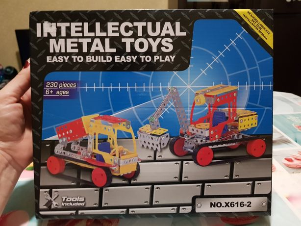 Развивающий металлический конструктор для детей