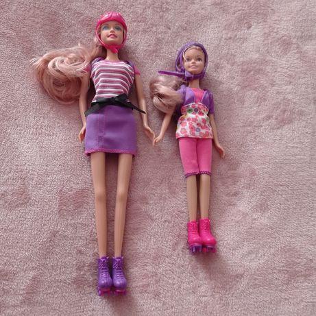 Набор кукол семья - кукла  барби на роликах.