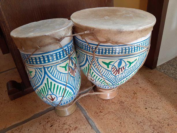 Djembé (tambor) duplo em cerâmica