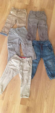 Spodnie chlopiece 1-2 lata cena za całość