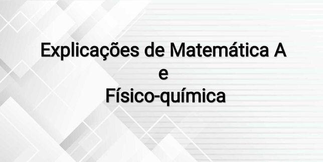 Explicações Matemática A e Físico-química 7-12º anos e Ensino Superior