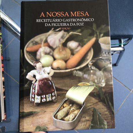 Livro culinaria  A nossa mesa Figueira da Foz