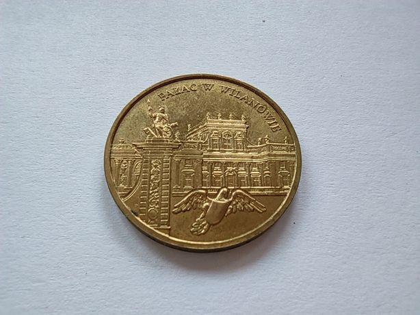 Moneta kolekcjonerska 2 zł. Pałac w Wilanowie 2000 r.
