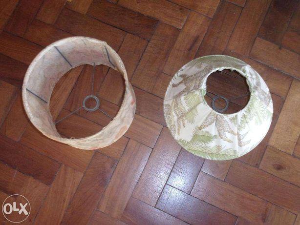 2 abat-jour em tecido
