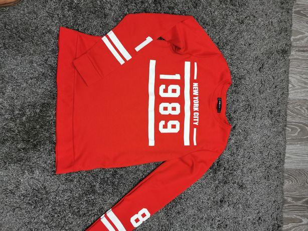 Czerwona  bluza new york