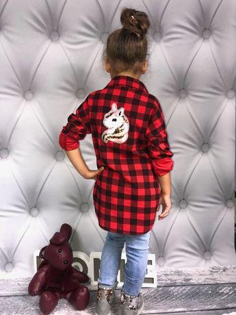 NOWA koszula dziewczęca z obracanymi cekinami polecam