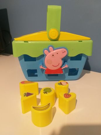 Koszyk sorter dźwiękowy świnka peepa pepa