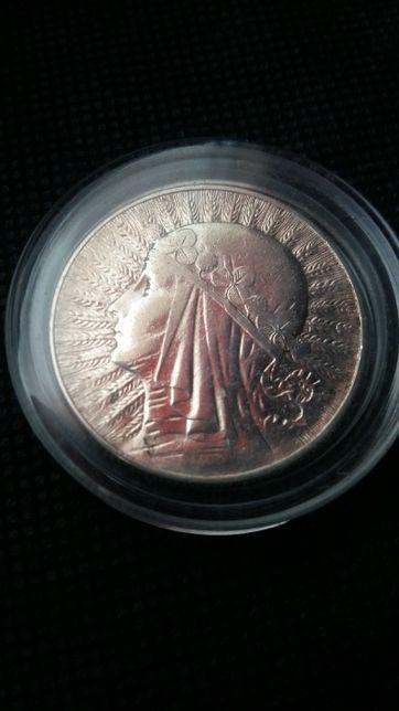 Moneta 5 zł. z 1934 roku Babka srebra-srebro antyk.