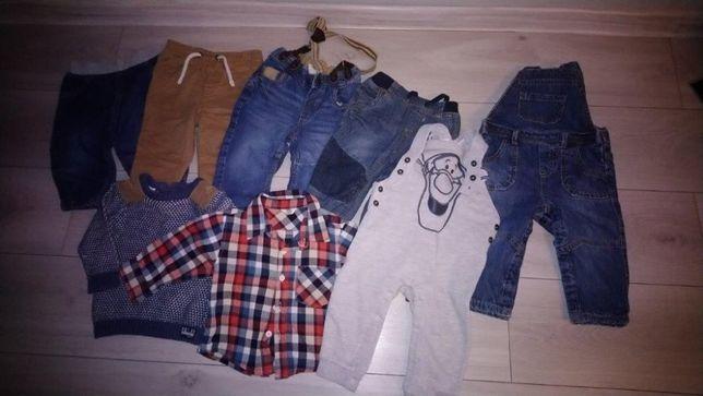zestaw spodni chłopięcych 74-80