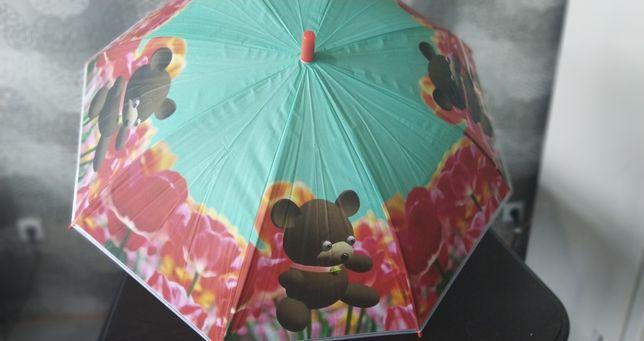 Зонтик детский мишка. Тростью. Со свиском.