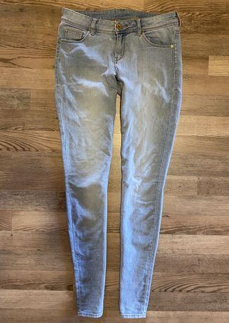 Голубые джинсы skinny h&m