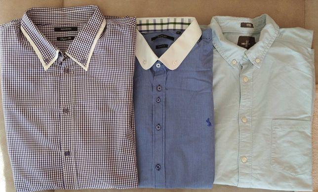 Trzy koszule męskie XL.