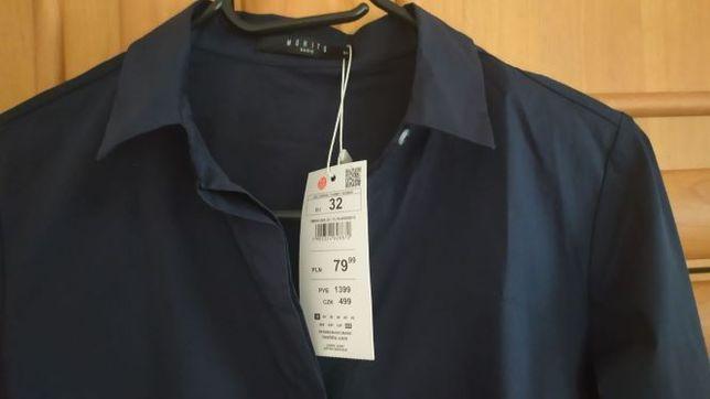 Granatowa koszula - MOHITO - rozm. 32