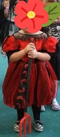 Sukienka karnawał, królowa kier, diablica