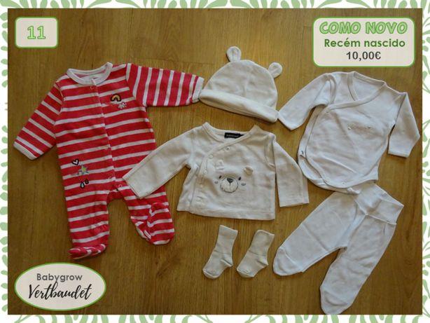 Conjuntos bebé, casacos e camisolas, 0-3 meses