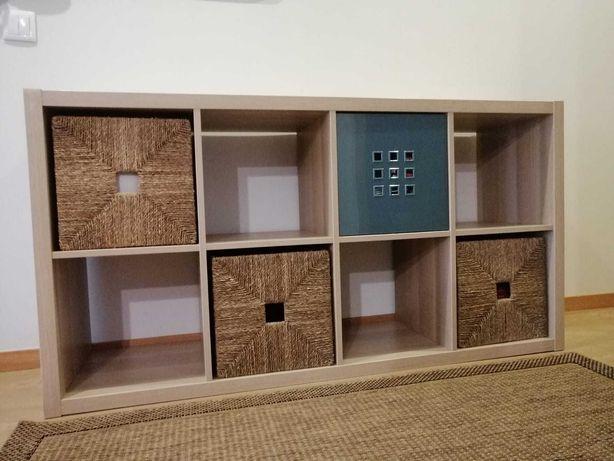 Estante KALLAX com 4 caixas como nova