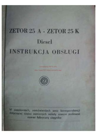 Instrukcja obsługi Zetor 25A_25K