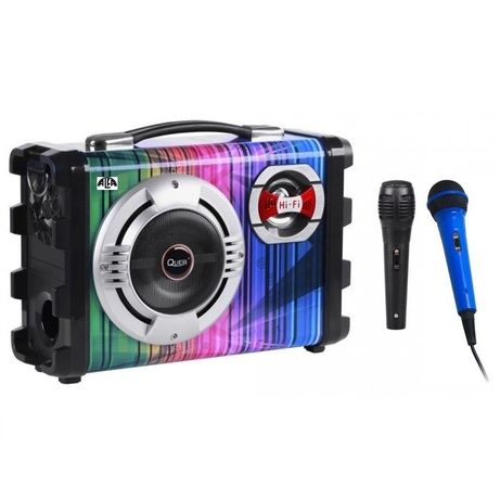 Zestaw nagłośnieniowy+2 mikrofony,USB,SD, Bluetooth,Akumulator,Karaoke