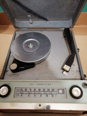 Rádio gira disco portátil