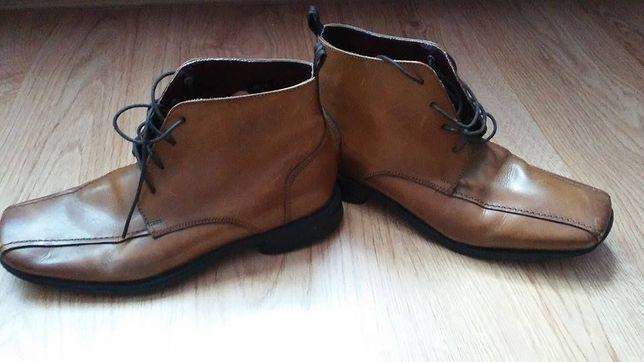 Buty za kostke wiosenno -jesienne skorzane roz 40 dł wkł 26 cm