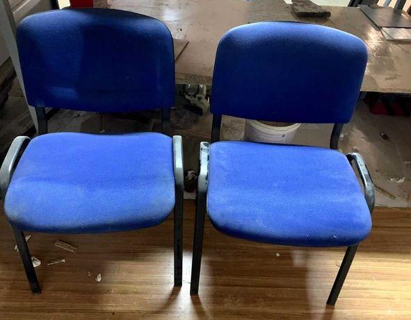 2 x krzesło konferencyjne niebieskie