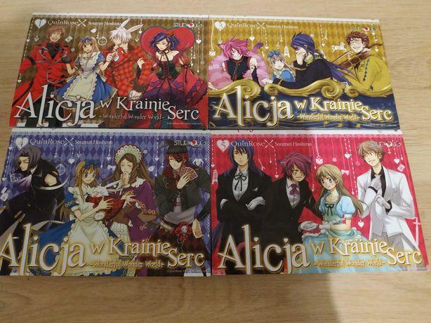 Manga Alicja w Krainie Serc tomy 1,3,4,5