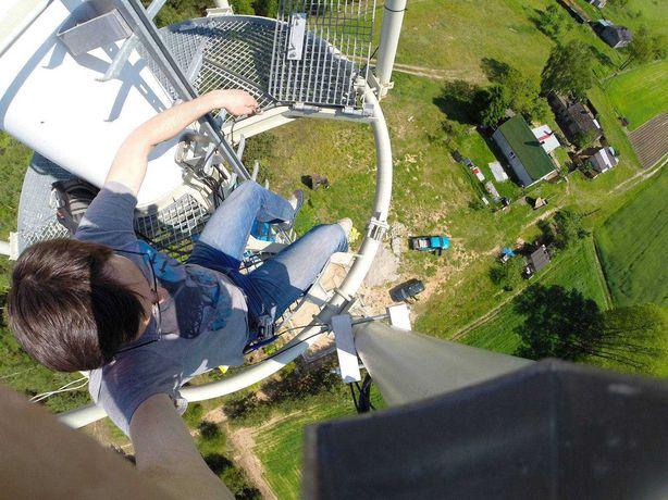 Wieża struno betonowa maszt 45 m nadajnik GSM WIFI RADIOWA