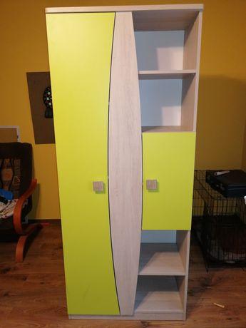 Komplet mebli dziecięcych łóżko szafa biurko komoda półka szafka wisza