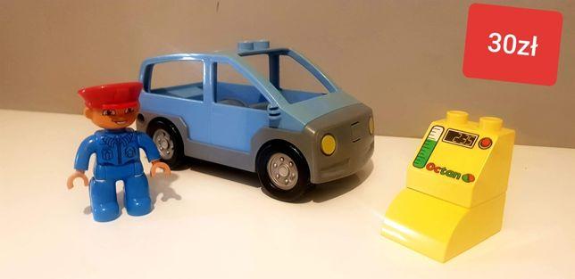 Lego Duplo auto samochód dystrybutor paliwa kierowca