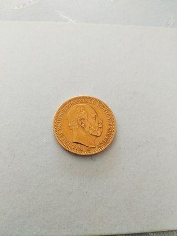 Moneta--20 Marek--1887--złoto--