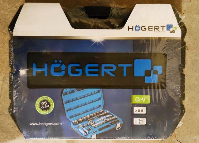 Nowy Zestaw narzędziowy Hogert HT1R424 89 elementów