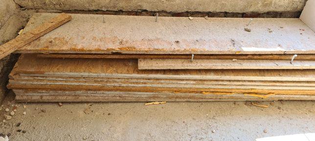 Plyty OSB skrawki na szalunki