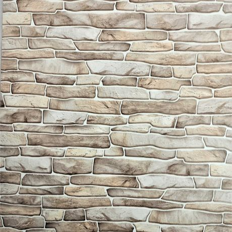 Tapeta ścienna cegła kamień mur piaskowiec brązowe beżowe