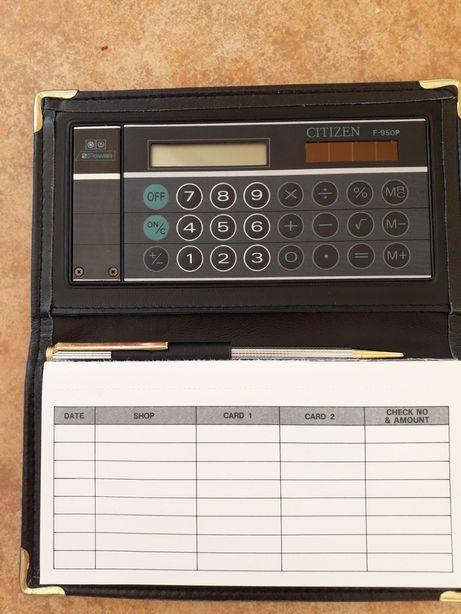 Calculadora Citizen com esferográfica e organizador