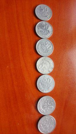 50 GROSZY- 1978, 1983, 1984, 1986, 1987 r. - Monety obiegowe z czasów