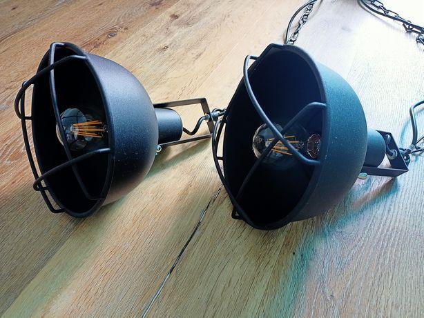 Lampy loft, czarne, metalowe
