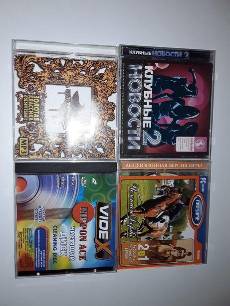CD Диски музыкальные, игра, мультфильмы