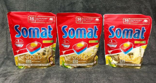Tabletki Do Zmywarki Somat Gold 3 x 36 szt = 108 szt ! Lemon & Lime