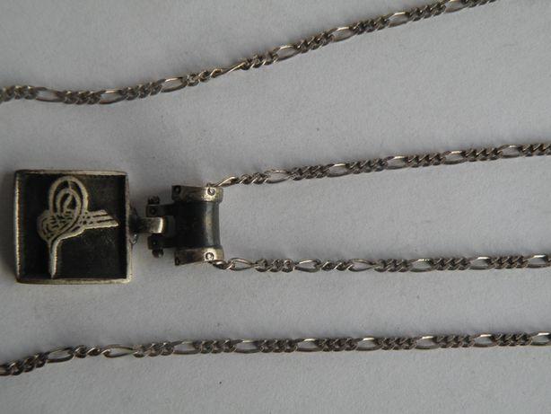 ladny srebrny lancuszek z wisiorkiem proba 925 g185
