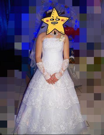 Свадебное платье 48-54 размер